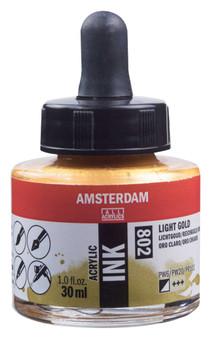 Amsterdam Acrylic Ink 30ml Bottle Light Gold