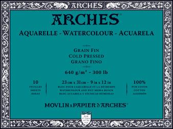 Arches Watercolor Block 300lb Cold Press 9x12