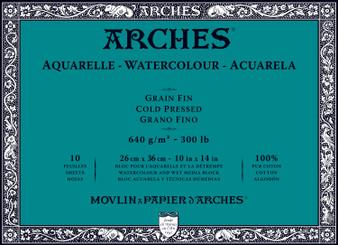 Arches Watercolor Block 300lb Cold Press 10x14