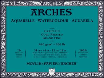 Arches Watercolor Block 300lb Cold Press 12x16