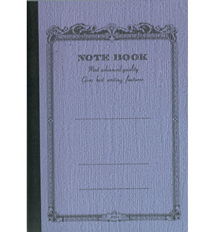 Apica Scrollwork Notebook Lined Light Blue 10x7 52sh