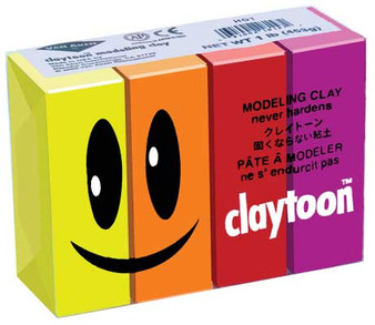 Van Aiken Claytoon Modeling Clay Set Hot Colors
