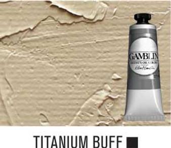 Gamblin Artists Oil Color 37ml Series 1: Titanium Buff