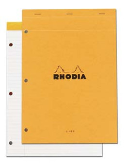 Rhodia Classic Stapled Topbound W/Mar 3Hole Lined 8.5x11.75