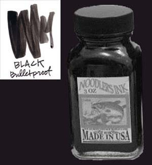 Noodlers Ink 3oz Bulletproof Black