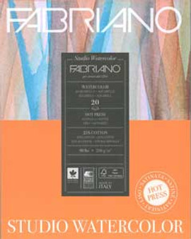 Fabriano Watercolor Studio Pad Hot Press 90lb 20 sheets 11x14