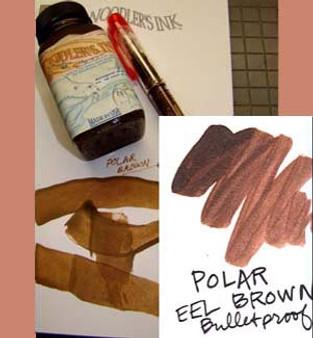 Noodlers Ink 3oz Eel Polar Brown