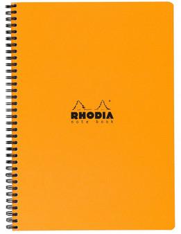 Rhodia Side Wirebound Notebook 9x11 Grid Orange Cover