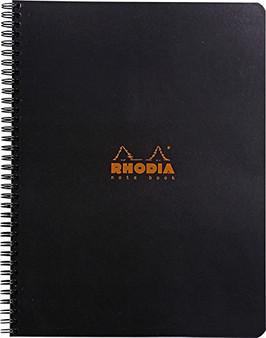 Rhodia Side Wirebound Notebook 9x11 Grid Black Cover