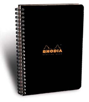 Rhodia Specialty Wire Side-Bound 6x8 Meeting Book Black