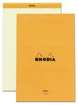 Rhodia Classic Stapled Topbound 8.5x12 Lined Yellow