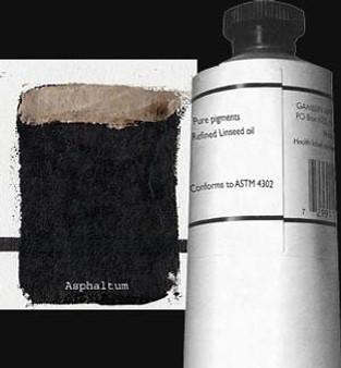 Gamblin Artists Oil Color 150ml Series 3: Asphaltum