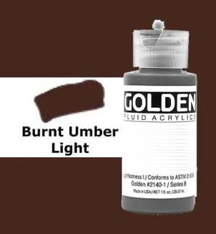 Golden Artist Colors Fluid Acrylic: 1oz Burnt Umber Light