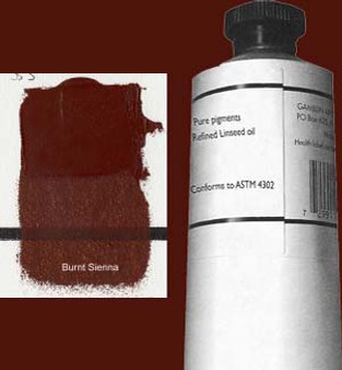 Gamblin Artists Oil Color 150ml Series 1: Burnt Sienna