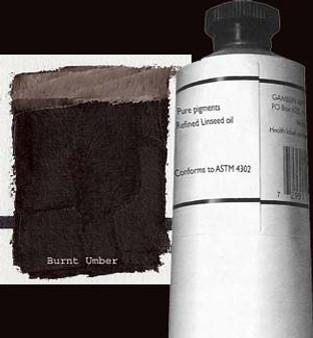 Gamblin Artists Oil Color 150ml Series 1: Burnt Umber