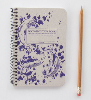 Michael Roger Press Decomposition Pocket Notebook Ruled Humpback Whales