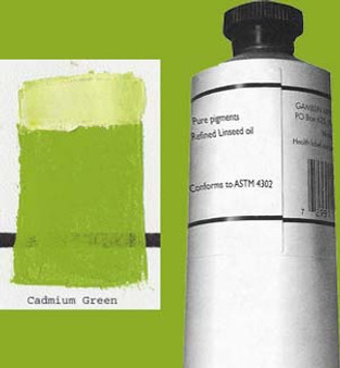 Gamblin Artists Oil Color 150ml Series 4: Cadmium Green