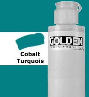 Golden Artist Colors Fluid Acrylic: 4oz Cobalt Turquoise