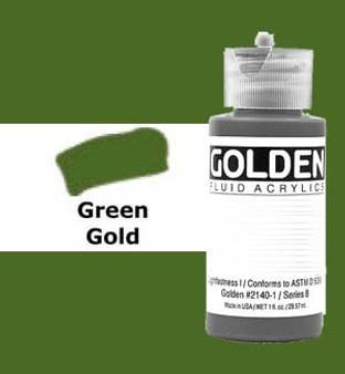 Golden Artist Colors Fluid Acrylic: 1oz Green Gold
