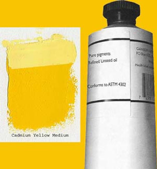 Gamblin Artists Oil Color 150ml Series 4: Cadmium Yellow Medium