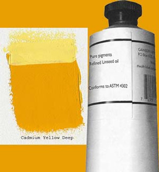 Gamblin Artists Oil Color 150ml Series 4: Cadmium Yellow Deep