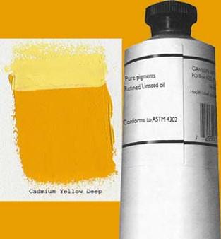 Gamblin Artists Oil Color 150ml Series 4: Cadmium Yellow Deep