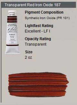 M. Graham Acrylic Series 2: 2oz Transparent Red Iron Oxide