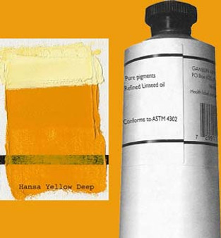 Gamblin Artists Oil Color 150ml Series 3: Hansa Yellow Deep