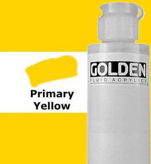 Golden Artist Colors Fluid Acrylic: 4oz Primary Yellow