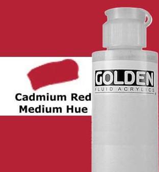 Golden Artist Colors Fluid Acrylic: 4oz Cadmium Red Medium Hue