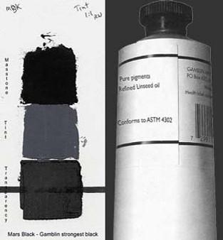 Gamblin Artists Oil Color 150ml Series 1: Mars Black
