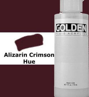 Golden Artist Colors Fluid Acrylic: 4oz Alizarin Crimson Hue