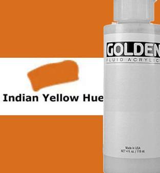 Golden Artist Colors Fluid Acrylic: 4oz Historical Indian Yellow Hue