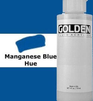 Golden Artist Colors Fluid Acrylic: 4oz Historical Manganese Blue Hue