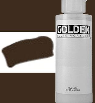 Golden Artist Colors Fluid Acrylic: 4oz Van Dyke Brown Hue