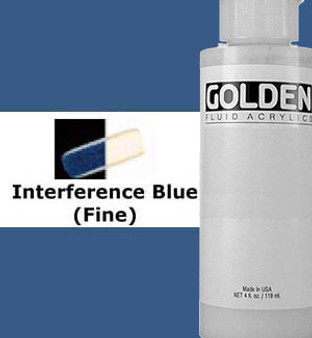 Golden Artist Colors Fluid Acrylic: 4oz CT Interference Blue