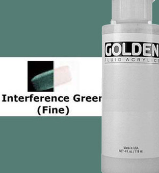 Golden Artist Colors Fluid Acrylic: 1oz CT Interference Green