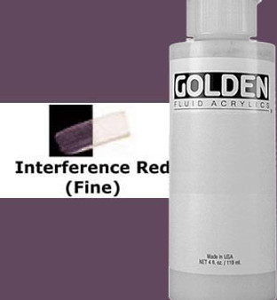 Golden Artist Colors Fluid Acrylic: 4oz CT Interference Red
