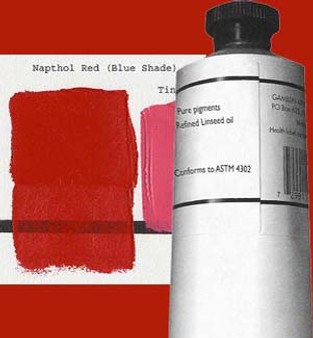 Gamblin Artists Oil Color 150ml Series 2: Naphthol Red