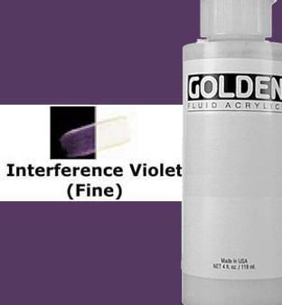 Golden Artist Colors Fluid Acrylic: 4oz Interference Violet Fine