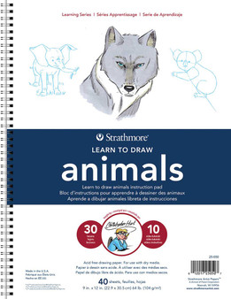 Strathmore Learning Series 9x12 Learn to Draw Animals with Christopher Hart