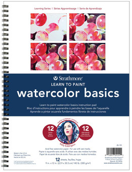 Strathmore Learning Series 9x12 Learn to Paint Watercolor Basics