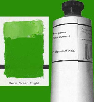 Gamblin Artists Oil Color 150ml Series 2: Permanent Green Light
