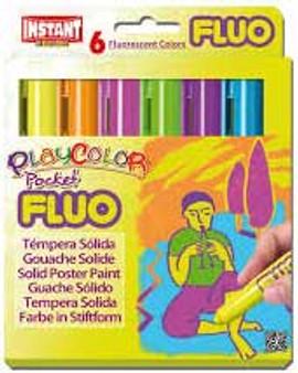 Playcolor Pocket Fluo 6 Color Set
