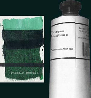 Gamblin Artists Oil Color 150ml Series 2: Phthalo Green Yellow