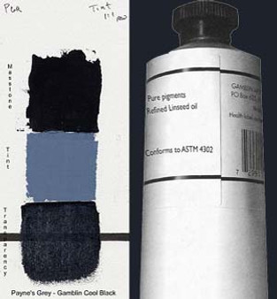 Gamblin Artists Oil Color 150ml Series 2: Paynes Grey