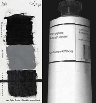 Gamblin Artists Oil Color 150ml Series 1: Van Dyke Brown