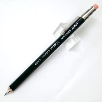 OHTO Mini Wooden Mechanical Pencil W/ Eraser & Clip 0.5mm Dark Green