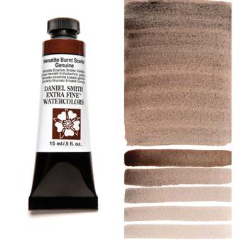 Daniel Smith Extra-Fine Watercolor 15ml Hematite Burnt Scarlet (Primatek)