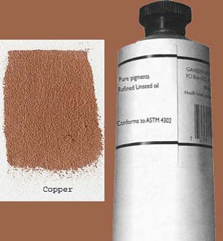 Gamblin Artists Oil Color 150ml Series 4: Copper